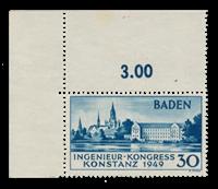 Occupazione alleata della Germania Zona Francese Baden - 1949 - Michel 46 type II - nuovo