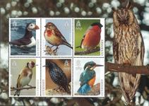 Guernsey - Europa CEPT - Vogels - Postfris souvenirvelletje