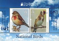 Guernsey - Eurooppa 2019 - Kansallislintuja - Postituore pienoisarkki