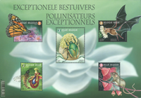 Belgium - Flower pollinisation - Mint souvenir sheet