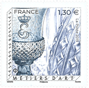 France - Crystall glass - Mint stamp