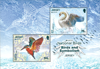 Jersey - Fugle Europa - Postfrisk miniark