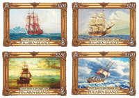 Pitcairn Islands - Bounty, paintings - Mint set 4v