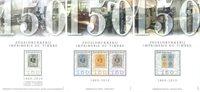 Belgique - 150 ans du timbre - Série neuve 3 blocs-feuillets