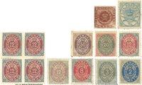 Danmark - Planche med forskellige ubrugte frimærker