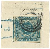 Danmark - AFA 3 stemplet brev stykke