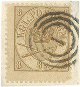 Danmark - AFA 14 stemplet brev stykke