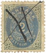 Danmark - AFA 16a stemplet