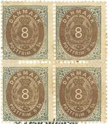 Danmark - AFA 19 ubrugt 4-blok