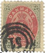 Danmark - AFA 18A stemplet