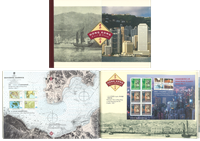 Hong Kong - Past and present - Year pack with stamps and folder with s/s