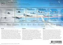 Netherlands - Aviation, 100 years - Mint souvenir sheet