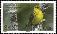 St Pierre & Miquelon - Paruline rouge - Timbre neuf