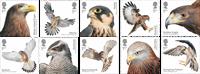 England - Rovfugle - Postfrisk sæt 10v