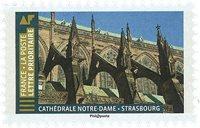 Frankrig - Notre Dame Katedralen i Strasbourg - Postfrisk frimærke