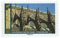 France - Cathedral in Strasbourg Notre Dame - Mint stamp