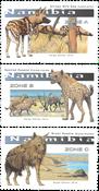 Namibie - Hyènes et chiens sauvages - Série neuve 3v