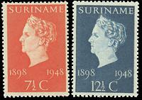 Suriname 1948 - NVPH 274/75 - postfrisk