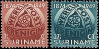 Suriname 1949 - NVPH 278/79 - postfrisk