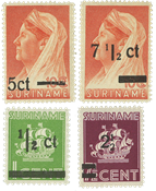 Surinam 1945 - NVPH 210/13 - Neuf avec charnière