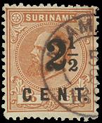 Suriname 1892 - NVPH 21 - stemplet