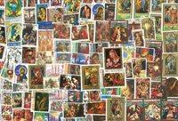 Kerstmis/Pasen - 100 verschillende postzegels