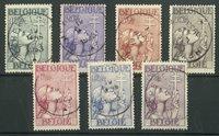 Belgique 1933 - OBP 377-83 - Obl.