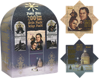 Brasilien - Julesalmen Glade Jul.. - Postfrisk miniark og 2 enkeltmærker