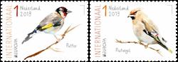 Holland - Europa Fugle - Postfrisk sæt 2v
