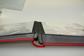 Insteekboek - Rood - A4 - 64 zwarte bladzijden - Echt leer