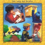 Autriche - La lettre - Bloc-feuillet neuf