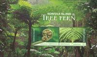 Îles Norfolk - Fougères - Bloc-feuillet neuf