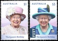 Australie - L'anniversaire de la Reine Elisabeth - Série neuve 2v