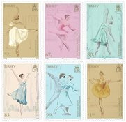 Jersey - Margot Fonteyn - Postfrisk sæt 6v