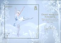 Jersey - Margot Fonteyn - Postfrisk miniark
