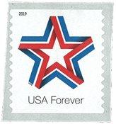 Etats-Unis - Ruban étoile - Timbre neuf de rouleau