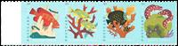 Etats-Unis - Récifs Coralliens, poissons - Série neuve 4v