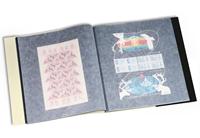 Album pour 24 Feuilles entières surdimensionnées maxi. 340x370 mm