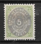 Antille Danesi  - AFA 10 - Nuovo linguellato