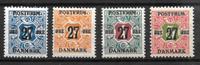 Danmark  - 4 div. 27 øres - Postfrisk