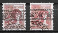 Allemagne Zones 1948 - AFA 30 + 30a - Oblitéré