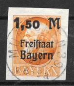 Bavière 1920 - AFA 176B - Oblitéré
