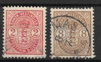 Antillas Danesas 1903 - AFA  22+23 - Usado