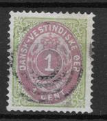Danish West Indies 1877 - AFA 5a - Cancelled