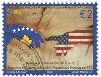 Kosovo - USA venskab - Stemplet frimærke