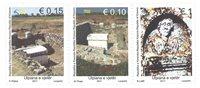 Kosovo - Arkæologi - Postfrisk sæt 3v