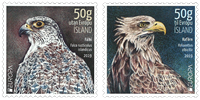 Iceland - EUROPA 2019 National birds - Mint set 2v