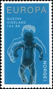 Norge - Gustav Vigeland - Postfrisk frimærke blå