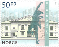 Norvège - Bourse d'Oslo - Timbre neuf