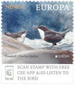 Norge - Europa Fugle 2019 - Postfrisk frimærke